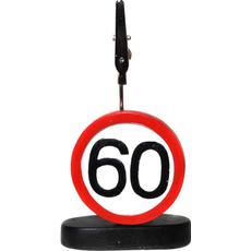"""Prometni znak iz polimase z kovinsko ščipalko """"60"""", 9cm"""