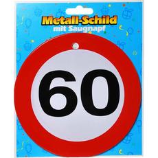 Prometni znak, kovinski,  s priseskom, 60, 15cm