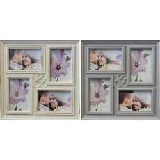 Okvir za 4 slike, plastičen, 34.5x34.5x2cm, za sliko 10x15cm, sort.