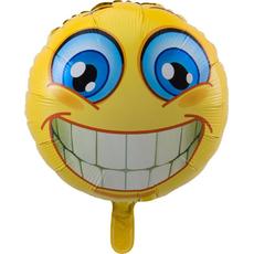Balon napihljiv, za helij, otroški, smeško, 45cm