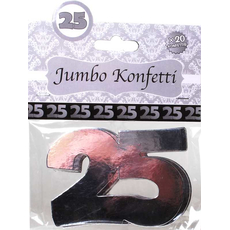 "Jumbo konfeti, srebrni, ""25"", 20/1, 7cm"