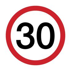 Serviete, prometni znak 30, 1/20, 33x33cm