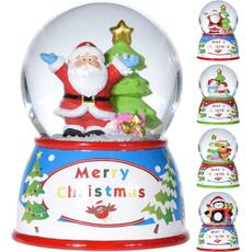Snežna krogla z božično figurico, 10cm, sort.