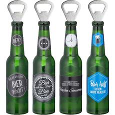 Odpirač za steklenico v obliki pivske steklenice, 20.5x4cm, sort.