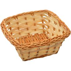 Dekorativna košarica iz bambusa, kvadratna, 12x12cm