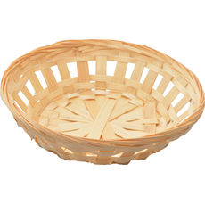 Dekorativna košarica iz bambusa, okrogla, 20cm