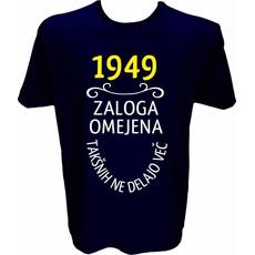 Majica-1949, zaloga omejena, takšnih ne delajo več L-temno modra