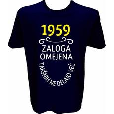 Majica-1959, zaloga omejena, takšnih ne delajo več L-temno modra
