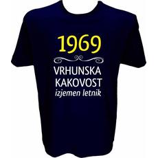 Majica-1969, vrhunska kakovost, izjemen letnik L-temno modra
