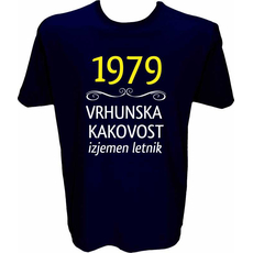 Majica-1979, vrhunska kakovost, izjemen letnik XL-temno modra