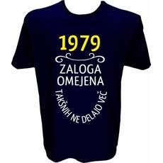 Majica-1979, zaloga omejena, takšnih ne delajo več L-temno modra