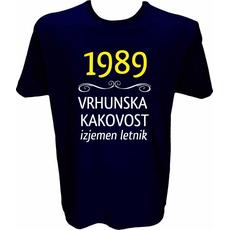 Majica-1989, vrhunska kakovost, izjemen letnik M-temno modra