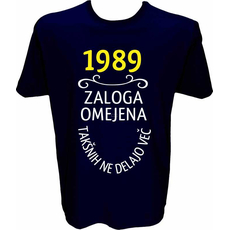 Majica-1989, zaloga omejena, takšnih ne delajo več L-temno modra
