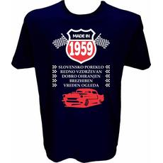 Majica-Made in 1959 avto M-temno modra