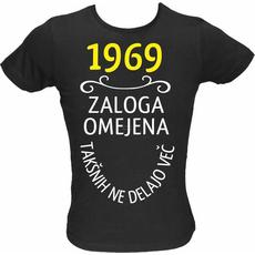 Majica ženska (telirana)-1969, zaloga omejena, takšnih ne delajo več L-črna