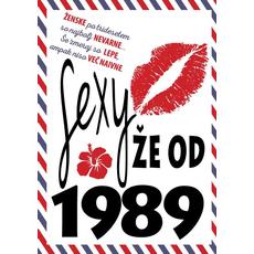 {[sl]:Voščilo, čestitka - ustnice, sexy že od 1989 - bleščice/zl