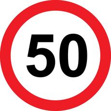 Prometni znak 50 let - 37cm, Arma