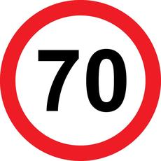 Prometni znak 70 let - 37cm, Arma