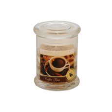 Dišeča sveča v steklu s pokrovom, Coffee time, 10/7,6cm
