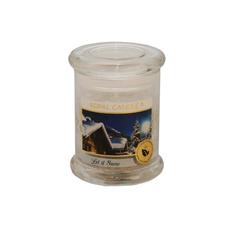 Dišeča sveča v steklu s pokrovom, Let it snow, 10/7,6cm
