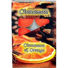 Sveča čajna, dišeča, cimet in oranža, 14 g, 6 kos
