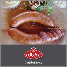 {[sl]:Tradicionalna Arvajeva Kranjska kobasa za 2 osebi, Gostilna Arvaj, Kranj (Vredn