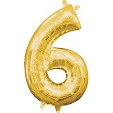"""Balon napihljiv, """"6"""", zlati, 40cm + palčka za napihnit"""