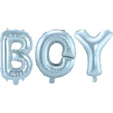 Balon napihljiv, napis BOY, 3x 36cm + vrvica ter palčka za napihnit