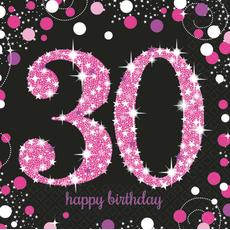 "Serviete iz papirja, ""30"", roza pikice, 16/1, 33x33cm"