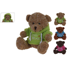 Medvedek v puloverju, plišasti, 15cm