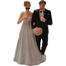 """Poročni par """"Foto session"""", polymasa, 13,5x8cm, sort."""