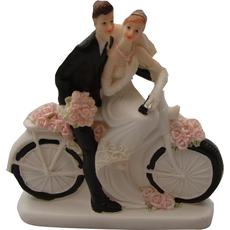 Poročni par na kolesu, polymasa, 13x13cm, sort.