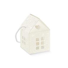 """Darilna škatla kartonska, """"CORDINO"""",hiška, 80x80x80mm"""
