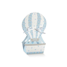 "Darilna škatla kartonska, ""MONGOLFIERA"", balon modra, 60x40x145mm"