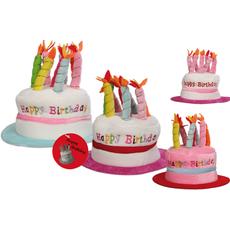 Party klobuk, šaljivi, rojstnodnevni z 8 svečkami, plišast