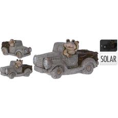 Lonec za rože, avto s solarno lučko, 36x20x18cm