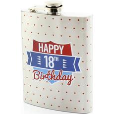 """Prisrčnica, jeklo, """"Happy Birthday 18"""", 14cm"""