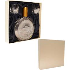 Set za žganje ribič, (gravirana steklenica 0.5l, in dva kozarčka 0.05l) v darilni embalaži