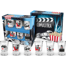 Set 6 kozarcev za žganje Kamasutra TV, 35ml