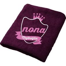 Brisača Najboljša nona, vijolična 100x5Ocm