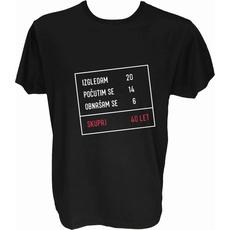 Majica-Izračun v okvirju 40 let M-črna