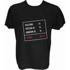 Majica-Izračun v okvirju 50 let M-črna