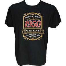 Majica-Izjemen letnik unikat 1950 M-črna