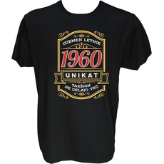 Majica-Izjemen letnik unikat 1960 M-črna