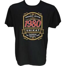 Majica-Izjemen letnik unikat 1980 M-črna