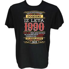 Majica-Najpomembnejši dogodki iz leta 1990 M-črna
