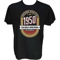 Majica-Vrhunska kakovost zaloga omejena klasika 1950 M-črna