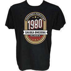 Majica-Vrhunska kakovost zaloga omejena klasika 1980 M-črna