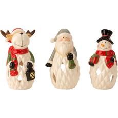 Svečnik za čajno lučko božiček/jelen/snežak 20cm sort