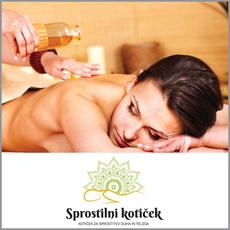 {[sl]:Aroma masaža po izbiri, Sprostilni kotiček, Žalec (Vrednostni bon, izvajalec storitev: NEOSUN, PRIMOŽ PLOHL S.P.)